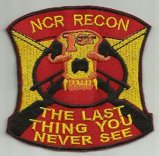 FIRST RECON 1 ST FLAG COSPLAY FALLOUT PATCH SIGN NCR VEGAS BOONE 5b7ae59206fd