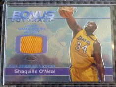 2003-04 Topps Chrome SHAQUILLE O'NEAL Bonus Coverage Jersey Patch Card Lakers BCR-SO #LosAngelesLakers