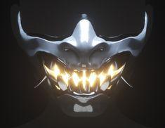 Cyberpunk Aesthetic, Arte Cyberpunk, Cyberpunk Fashion, Cyberpunk 2077, Helmet Design, Mask Design, Mascara Oni, Dark Mask, Character Art