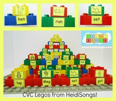 Heidisongs Resource:  CVC Legos!