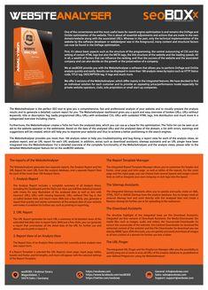 WebsiteAnalyser - Product description in english language.