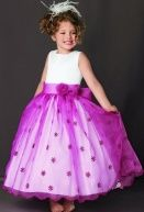 Lovely Flowers Collar Girl's Formal Dress As the Picture $48.65