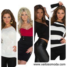 Compra online en España de vestidos economicos, jerseys y chaquetas para chicas www.xeitosomoda.com