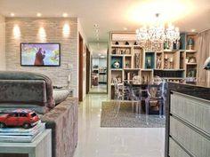 Sala de um apartamento, de 70 m². Projeto de Only Design de Interiores.
