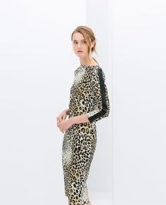 Image 2 of COMBINED LEOPARD PRINT DRESS from Zara