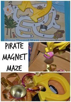 learn about magnetism with this fun pirate magnet maze #science #magnetism