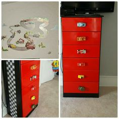 Lightning McQueen dresser   For the Home   Pinterest   Lightning     Car dresser theme