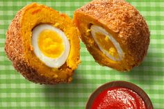 Kabocha Squash Scotch Eggs. This looks time consuming, but really cool!