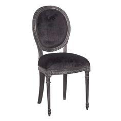 Moulin Noir French Velvet Side Chair