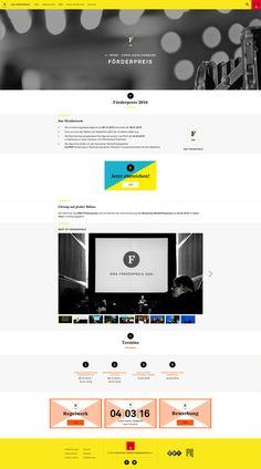 DEUTSCHER WERBEFILMPREIS  Responsive Website Website, Design, Design Comics