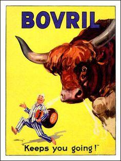 AP1367 - Bovril Keeps You Going, Vintage Advert 1930s (30x40cm Art Print)