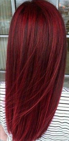 Cherry red hairstyles