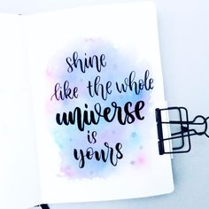 My favorite galaxy one Calligraphy Quotes Doodles, Brush Lettering Quotes, Doodle Quotes, Hand Lettering Quotes, Chalk Lettering, Calligraphy Letters Alphabet, How To Write Calligraphy, Calligraphy Handwriting, Caligraphy