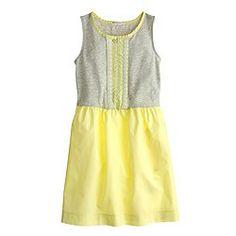 Girls' embroidered dot dress