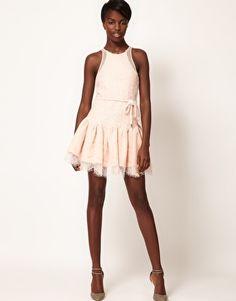 Enlarge Three Floor Skip A Beat Dress with Lace Trumpet Hem