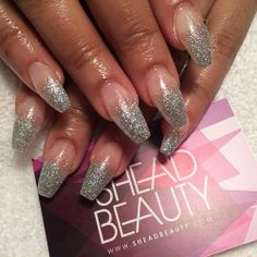 Glitter ombré #nails #nailart #beauty #london #sheadbeauty #SheaD #sheadnails #square #squaletto