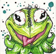 Kermit the FREAK by PatrickJCreates on Etsy