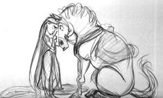 Living Lines Library: Tangled (2010) - Characters: Pascal & Maximus