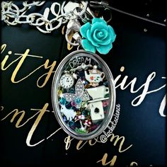 Alice in Wonderland- through the looking glass origami owl locket