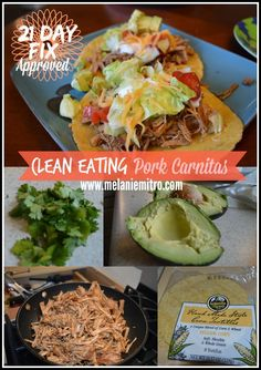Clean Eating Pork Carnitas, 21 Day Fix Dinner Recipe. - Clean Eating Pork Carnitas, 21 Day Fix Dinner Recipe. Seriously one of my absolute favorite dinner - Healthy Recipes, Clean Eating Recipes, Healthy Cooking, Mexican Food Recipes, Dinner Recipes, Healthy Eating, Eating Clean, Healthy Tacos, Healthy Appetizers