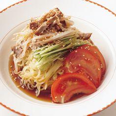 チャーシューもやしのっけ冷やし中華 | ワタナベマキさんのそばの料理レシピ | プロの簡単料理レシピはレタスクラブニュース