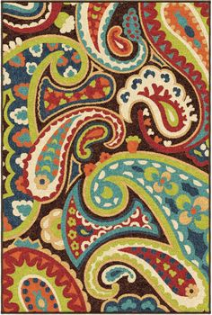 Our Promise Monteray MultiArea Rug showcases a gorgeous paisley design accented with bright and vibrant colors. This Indoor/Outdoor combines the benefits of outdoor functionality with the pizzazz of contemporary fashion.