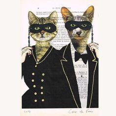 Party Cats - Print Artwork