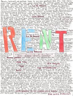 viva la vie boheme. #rent