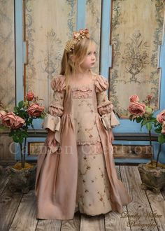 Dusty Rose Marie Antoinette Renaissance Dress by CarmenCreation