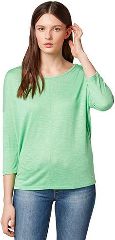 Musthafe  Bekleidung, Damen, Tops, T-Shirts & Blusen, T-Shirts Toms, Shirt Bluse, Tom Tailor, Denim, Summer, Clothing, Women's, Jeans