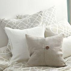 ~Lovely Linen...Textured Linen Pillows