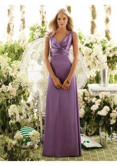 Wedding dress online shop - satin sexy v neck with slim a line floor length bridesmaid dress bm 0047