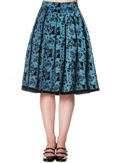"BANNED ""Sia Bella"" skirt - blue or black size L"