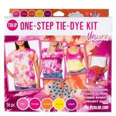 Picture of Tulip® One-Step Tie-Dye Kit Unicorn Diy Tie Dye Socks, Diy Tie Dye Shirts, Tulip Colors, Colours, Tulip Tie Dye, Tie Dye Party, Tie Dye Kit, Tie Dye Crafts, Tie Dye Fashion