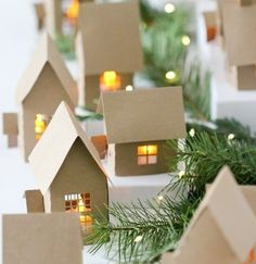 Decoration noel maison papier