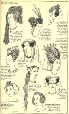 Village Hat Shop Gallery :: Chapter 7 - Medieval or Gothic Europe :: Medieval Hats, Medieval Costume, Medieval Dress, Medieval Clothing, Medieval Fantasy, Medieval Gothic, Gothic Steampunk, Steampunk Clothing, Victorian Gothic