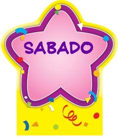 Menta Más Chocolate - RECURSOS y ACTIVIDADES PARA EDUCACIÓN INFANTIL: Cartel de LOS DIAS DE LA SEMANA (Estrellas)