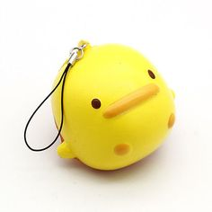 Lovely Yellow Duck Squishy Cake Phone Straps Slow Soft Rising Cream Odor Bread