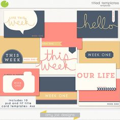 Titled Templates by Amy Jaz Designs @ the-lilypad.com