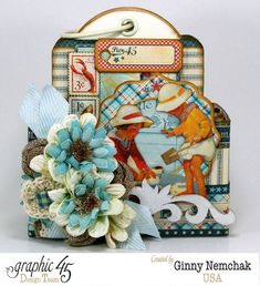 By The Sea Tag Album in a Box by the amazing Ginny #graphic45