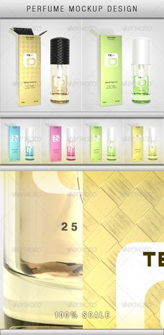 Perfume Mockup  #GraphicRiver         Box and Bottle mockup  Super-fine quality  Customizable with smart objects. One smart object for front of the perfume box, and one for the perfume bottle label.  You have the possibility to change the colors using the HUE layer in the project  The design present in the preview images is for preview purposes only     Created: 27August13 GraphicsFilesIncluded: PhotoshopPSD HighResolution: Yes Layered: Yes MinimumAdobeCSVersion: CS3 PixelDimensions…