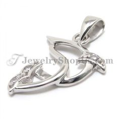 925 Silver Pendant with Zircon with Free Chain