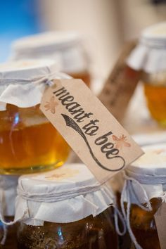 Honey wedding favours - what a 'sweet' idea that supports our bee population