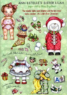 Ann Estelle's Sister Lilah paper doll by Mary Engelbreit - Christmas