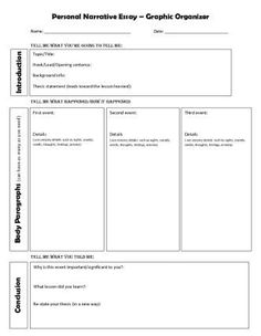 personal narrative graphic organizer 5th grade - Google Search