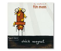Chick Magnet - The Adventures of Tin Man Canvas Art Prints, Fine Art Prints, Card Tags, Cards, Nz Art, Man Parts, Kiwiana, Tin Man, Buy Art Online