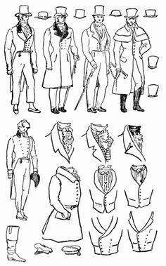 Regency Romance World: Nineteenth Century Late Regency Romance Era Fashions Worn By Men