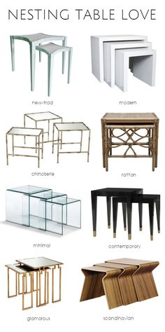 Nesting Tables In A Variety Of Styles! #furniture #tables #smallspaces
