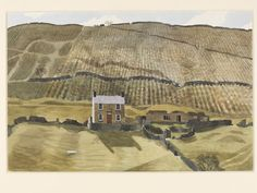 Underbank Farm, Woodlands, Ashdale, Derbyshire; Recording Britain, Kenneth Rowntree, 1940, watercolour. l Victoria and Albert Museum