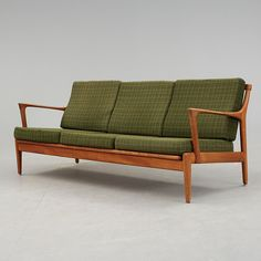 Bertil Fridhagen; Teak 'Kuba' Sofa for Bröderna Andersson, 1960s. I grew up in the 60s, and we had a sofa very much like this.